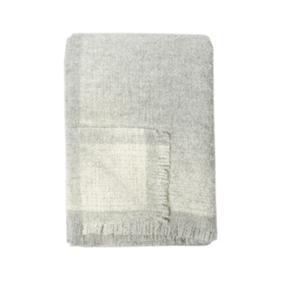 WHITEHORSE ALPACA THROW, GREY/IVORY