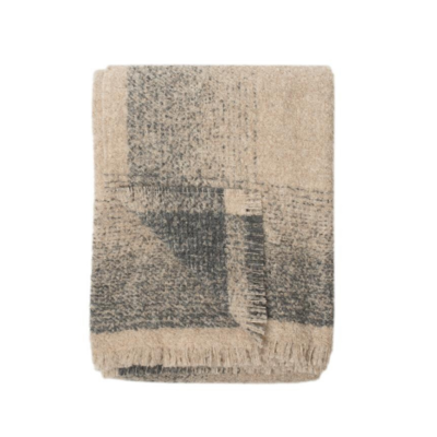 WHITEHORSE ALPACA THROW, OATMEAL/CHARCOAL