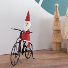 BICYCLE SANTA ORNAMENT