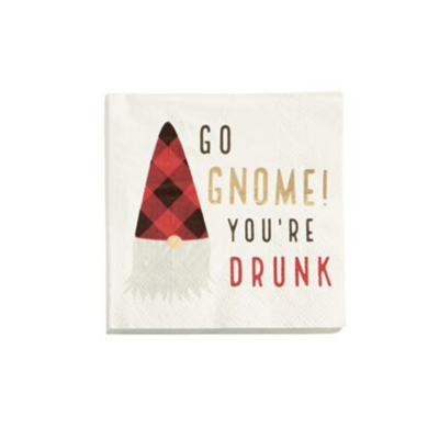 Mud Pie GO GNOME YOU'RE DRUNK PAPER NAPKINS