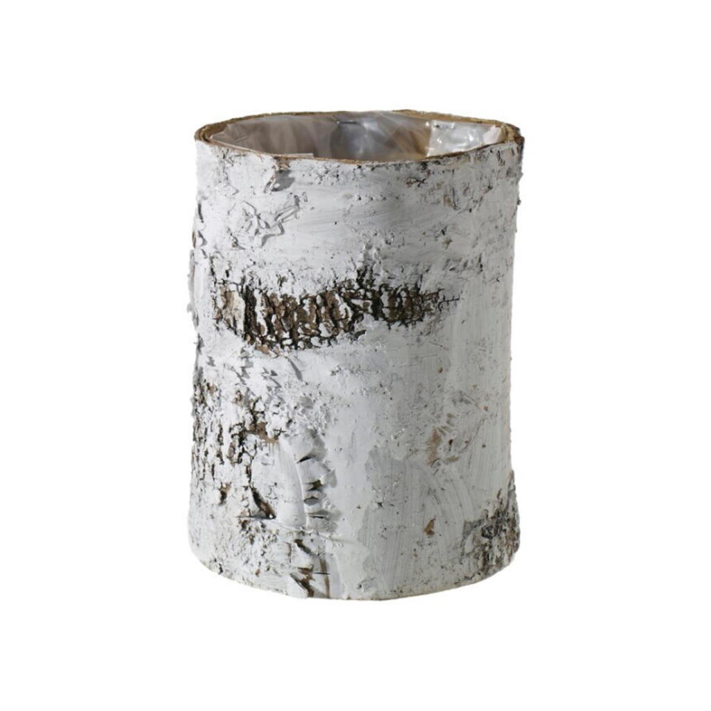 D-BIRCH CYLINDER, WHITE, LARGE