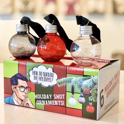 HOLIDAY SHOOTER ORNAMENTS, SET OF SIX