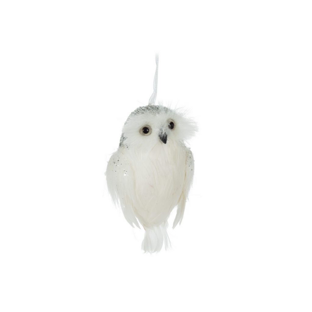 WHITE OWL ORNAMENT