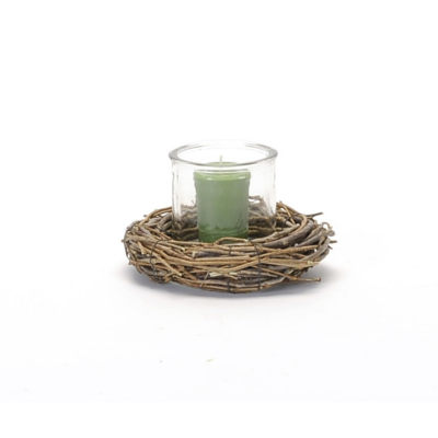 NESTED GLASS CANDLE HOLDER