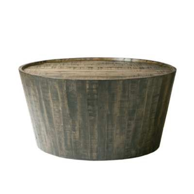 The Goods DRUM COFFEE TABLE, GREY WASH