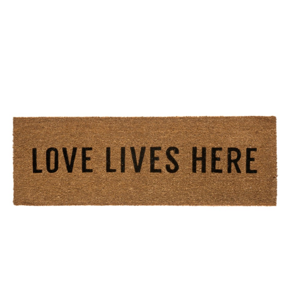 LOVE LIVES HERE DOORMAT