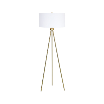 INSPIRED FLOOR LAMP, ANTIQUE GOLD