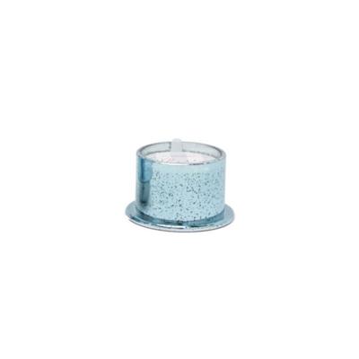 ICE BLUE MERCURY GLASS CANDLE, WHITE BIRCH, 4.5 OZ