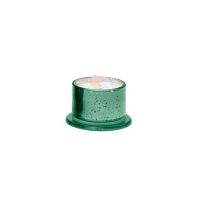 DEEP GREEN MERCURY GLASS CANDLE, CRANBERRY PINE, 4.5 OZ