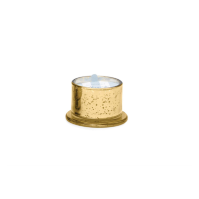 GOLD MERCURY GLASS CANDLE, MULLING SPICES, 4.5 OZ