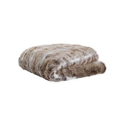 "Brunelli BEAR FAUX FUR THROW, 50"" x 60"""