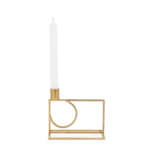 KNOX IRON CANDLE HOLDER, BRASS