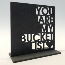 Dundee Designs BUCKET LIST STAND UP NOTECARD