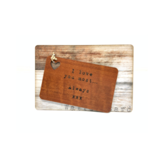 Dundee Designs I LOVE YOU MOST WALLET CARD