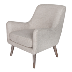 Style in Form IVANA CHAIR, GRAY BOUCLE