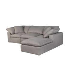 MODULAR CONDO LOUNGER, LIGHT GREY