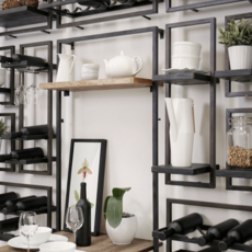 BODRUM SHELF, TYPE D, BLACK