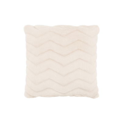 Torre Tagus ULTRA MINK FAUX FUR CUSHION, CREAM WHITE