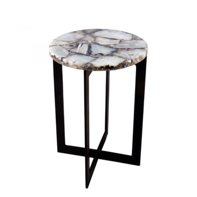 BRENDA AGATE ACCENT TABLE