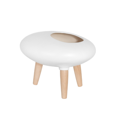 Style in Form CIRCA SPACE PLANTER, WHITE, SMALL