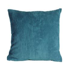 CORDUROY PILLOW, MARINE BLUE, 22 X 22