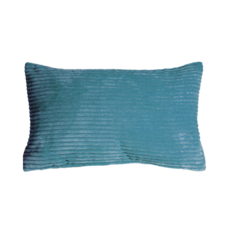 CORDUROY PILLOW, MARINE BLUE, 12 X 20