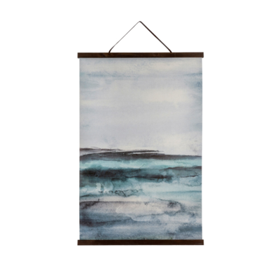 SEAS OF BLUE LINEN WALL DECOR
