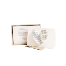 SugarBoo HEART CARDS & ENVELOPES, S/6
