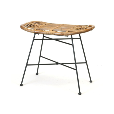 Bacon RATTAN & IRON STOOL
