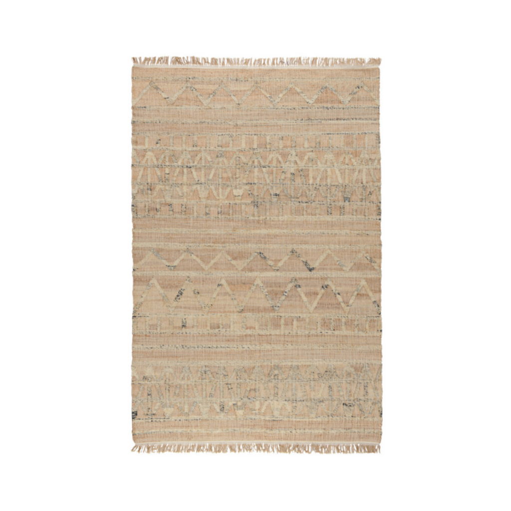 Classic Home KINGSTON DISTRESSED NATURAL RUG, 5 x 8'