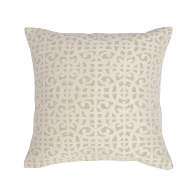 Classic Home MONTEGO IVORY PILLOW, 22 X 22