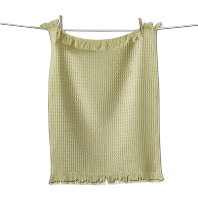 Design Home WAFFLE WEAVE DISH TOWEL, GREEN