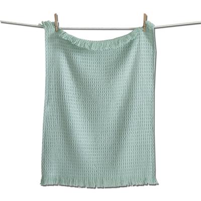 Design Home WAFFLE WEAVE DISH TOWEL, AQUA