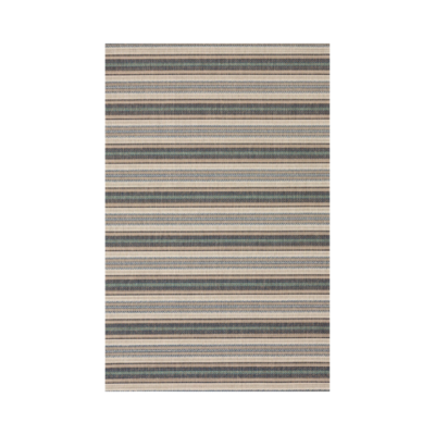 MONACO UPTOWN BLUE IN/OUT RUG, 6 X 9'