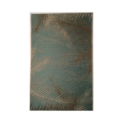 MONACO SEA GRASS TURQUOISE IN/OUT RUG, 5 X 8'