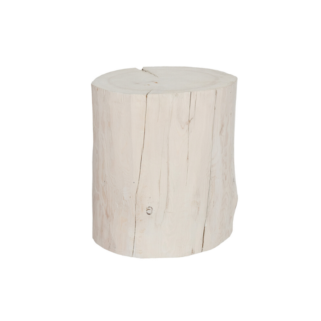 Style in Form WIDE SALISH STUMP, WHITE, 16""