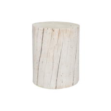"""Style in Form WIDE SALISH STUMP, WHITE, 18"""""""
