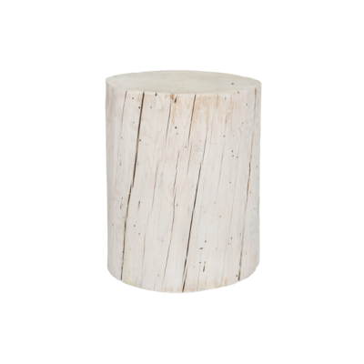 Style in Form WIDE SALISH STUMP, WHITE, 18""