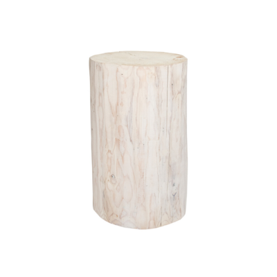 Style in Form SALISH ROUND STUMP, WHITE, 21""