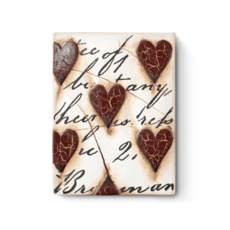 Sid Dickens SID DICKENS TILE, RED HEARTS WITH SCRIPT