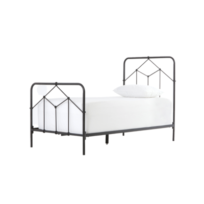 Four Hands CASSIDY TWIN BED, BLACK