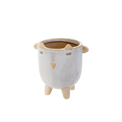 LITTLE LAMB POT, WHITE