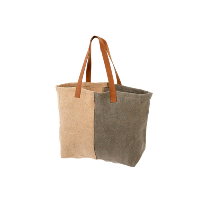 SOFT JUTE TOTE, COOL GREY