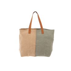 SOFT JUTE TOTE, SEA GREEN