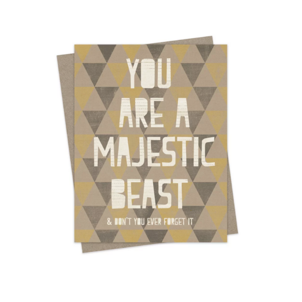 Hairbrained Schemes MAJESTIC BEAST, GREETING CARD
