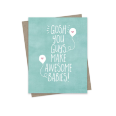 Hairbrained Schemes AWESOME BABIES, GREETING CARD