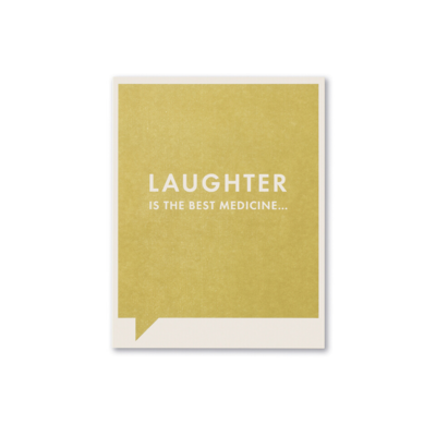 Design Home LAUGHTER IS, GREETING CARD