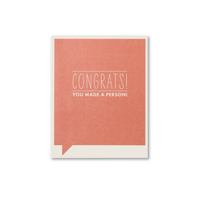 Design Home CONGRATS YOU MADE A PERSON, GREETING CARD