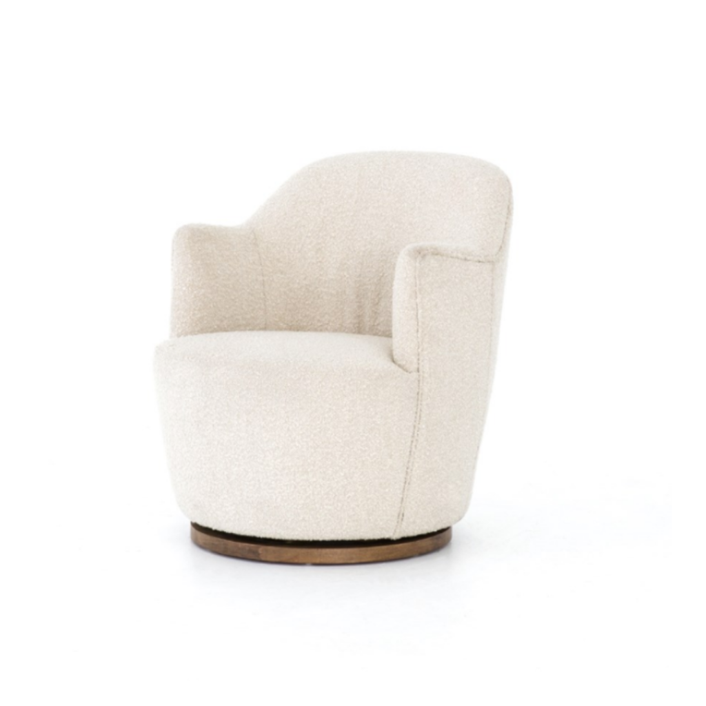 Four Hands AURORA SWIVEL CHAIR, KNOLL NATURAL
