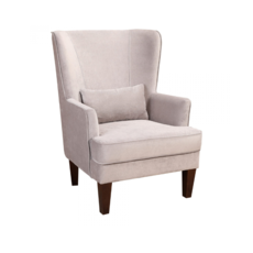 PRINCE ARM CHAIR, GREY VELVET